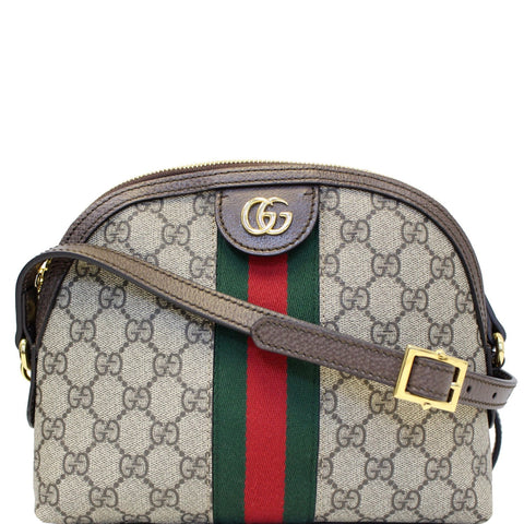 GUCCI Ophidia GG Supreme Canvas Small Shoulder Bag Beige 499621
