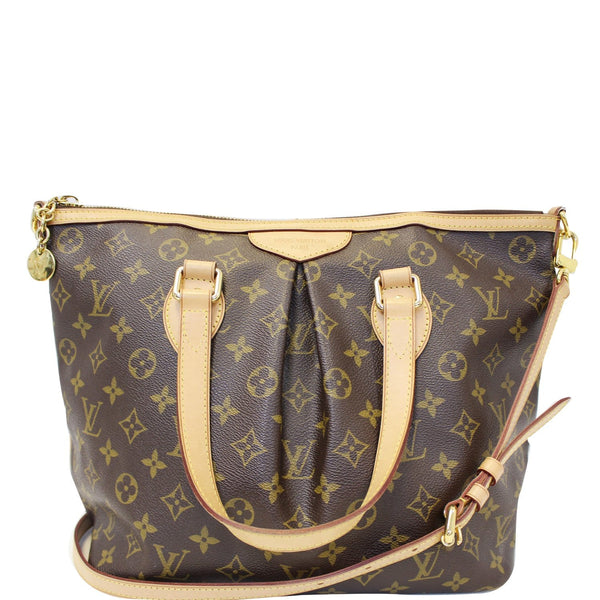LOUIS VUITTON Palermo PM Monogram Canvas Shoulder Bag Brown-US