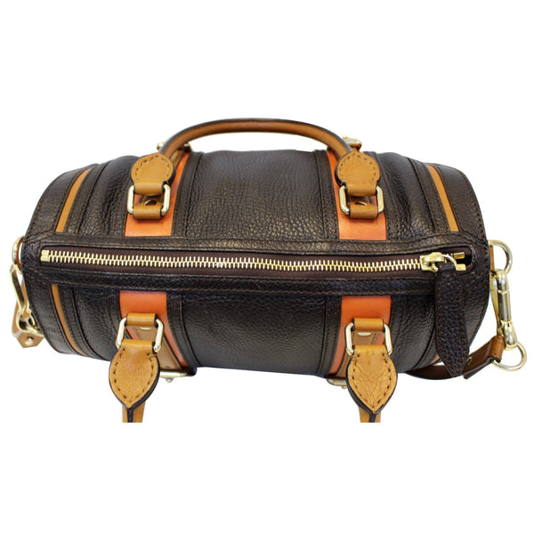 Burberry Alchester Bowling Leather Satchel Shoulder Bag Black-US