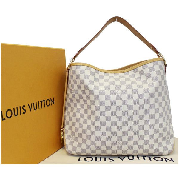 LOUIS VUITTON Delightful MM NM Damier Azur Hobo Shoulder Bag White-US