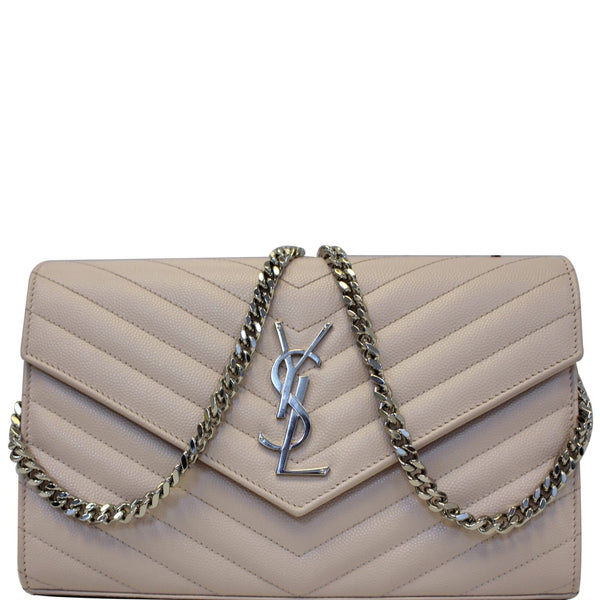 Yves Saint Laurent Wallet Chain Monogram Grain De Poudre