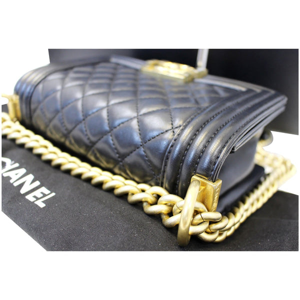 Chanel Le Boy Small Lambskin Leather Shoulder Bag - chanel chain