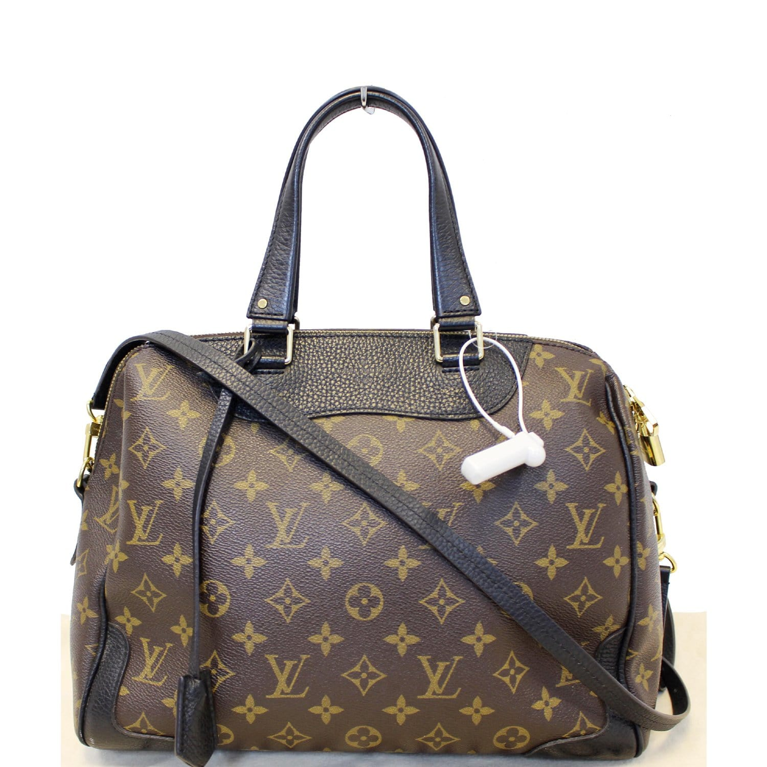 589d189906ef LOUIS VUITTON Retiro NM Monogram Canvas Shoulder Bag Noir-US