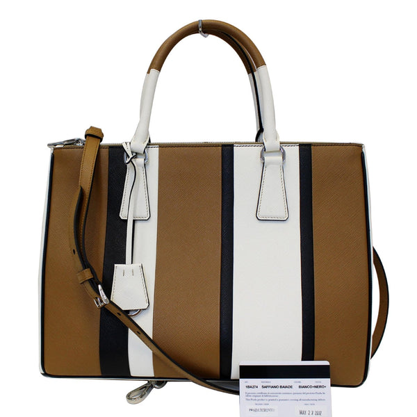 Prada Galleria Bag Leather Tote Bag- Full View