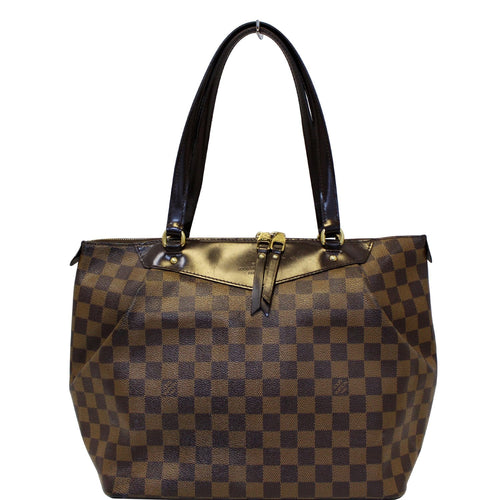 LOUIS VUITTON Westminster GM Damier Ebene Tote Shoulder Bag Brown