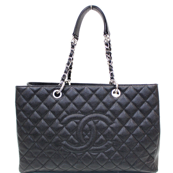 Chanel Tote Bag XL Grand Caviar Leather Shopping Black