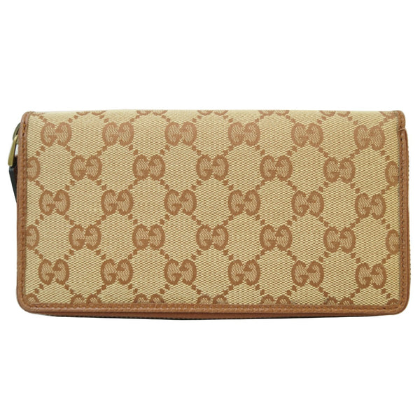 Gucci Zip Around NY New York Yankees Patch Wallet front view