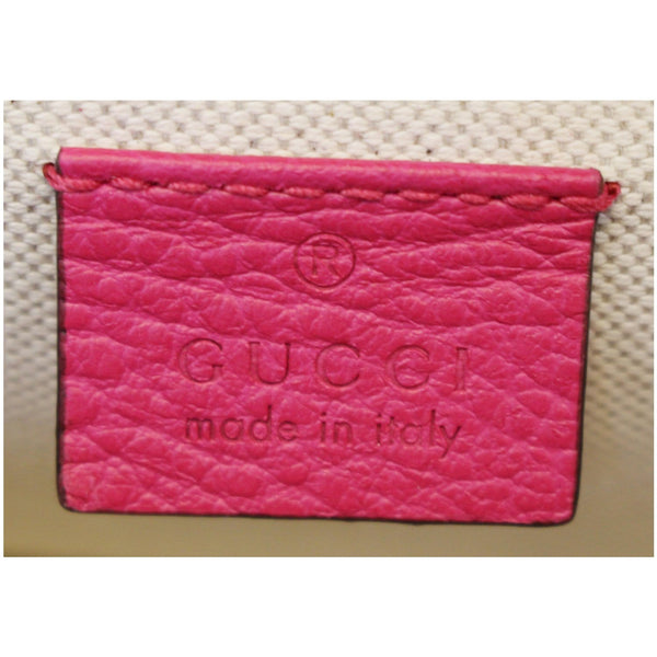 Gucci Dionysus Small Guccify Grained Leather Bag Pink - made in italy