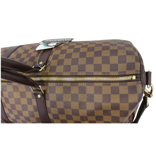 Louis Vuitton Keepall - Lv Damier Ebene Travel Bag - check leather