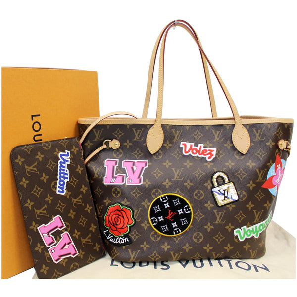 elegantly decorated Louis Vuitton Stories Neverfull MM Bag