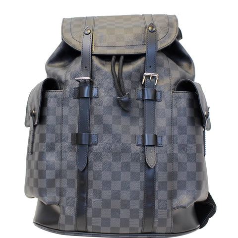 LOUIS VUITTON Christopher PM Damier Graphite Backpack Bag Black