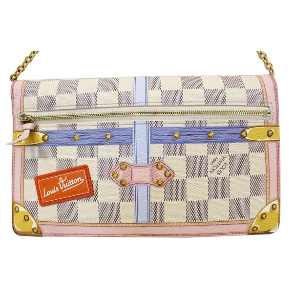 LOUIS VUITTON Summer Trunks Pochette Weekend Damier Azur Shoulder Bag-US