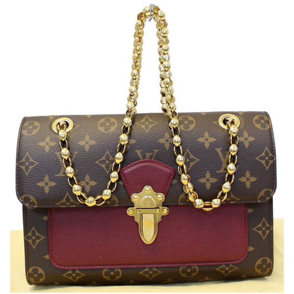 Full View Lv Victoire Monogram Canvas Shoulder Bag
