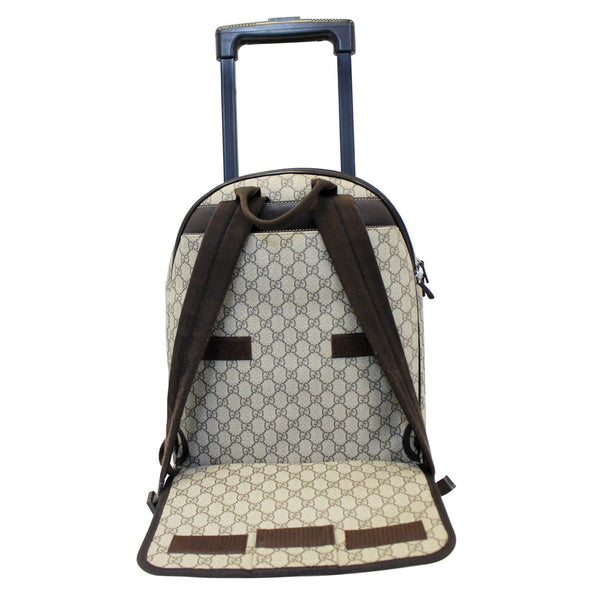 Gucci Backpack Bag GG Supreme Canvas Trolley - back  view