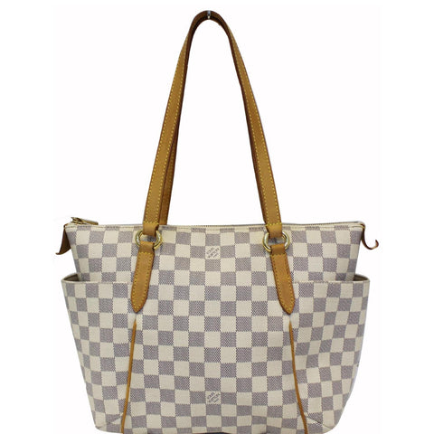 LOUIS VUITTON Totally PM Dmier Azur Shoulder Bag White