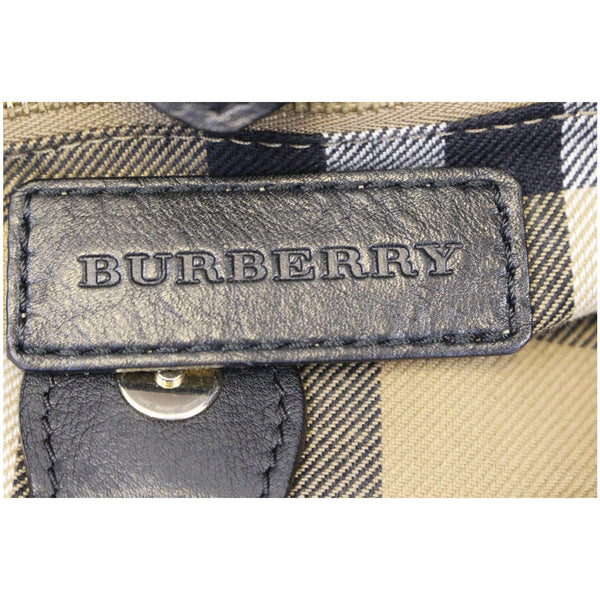 Burberry House Check Tote Bag - logo