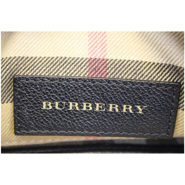 BURBERRY Helmsley House Check Grained Leather Crossbody Bag-US