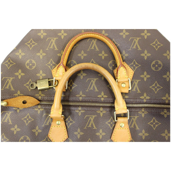 LOUIS VUITTON Speedy 40 Monogram Canvas Satchel Handbag Brown-US