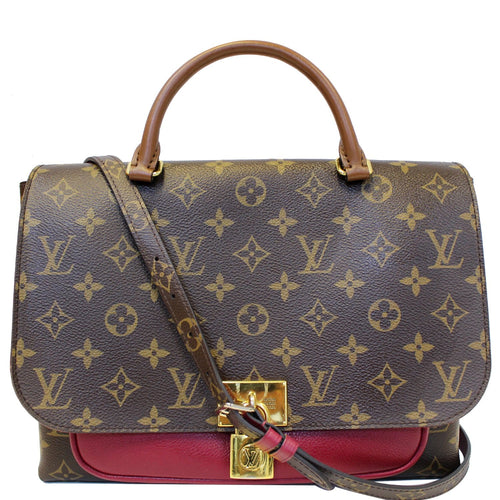 LOUIS VUITTON Marignan Monogram Canvas Messenger Shoulder Bag Lie De Vin