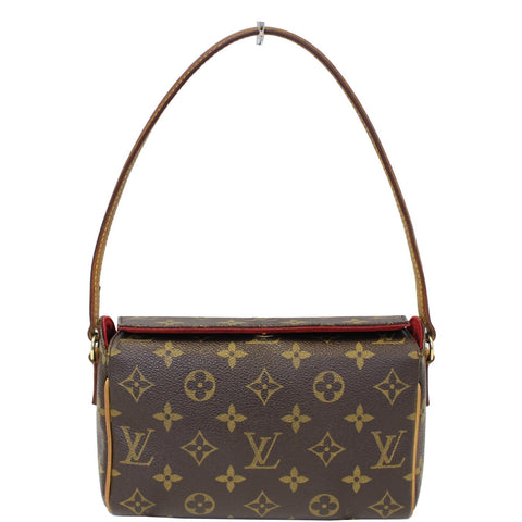 LOUIS VUITTON Recital Monogram Canvas Shoulder Handbag