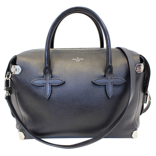 da8b9fdf1c4d0 LOUIS VUITTON Garance Smooth Calfskin Leather Satchel Bag Black