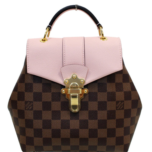 LOUIS VUITTON Clapton Damier Ebene Backpack Bag Magnolia