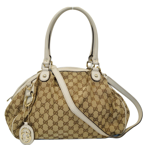 Gucci GG Sukey Two Way Shoulder Bag Beige 223974