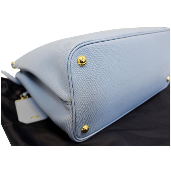 PRADA Lux Saffiano Leather Tote Shoulder Bag Blue-US