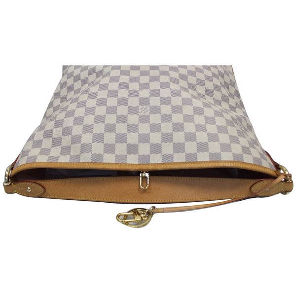 Louis Vuitton Delightful PM Damier Azur Hobo Bag bottom view