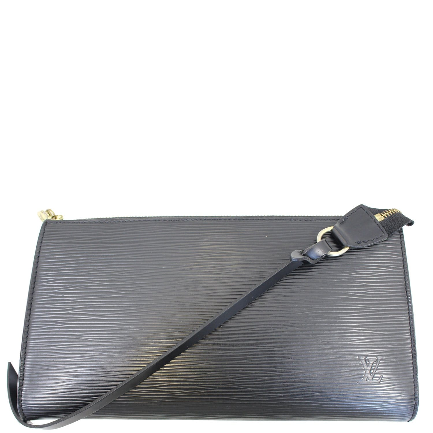 LOUIS VUITTON Pochette Accessoires Epi Leather Pouch Black-US fd300026b9