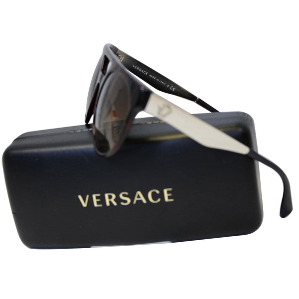 Brown Versace Sunglasses With Brown Frame - Side View