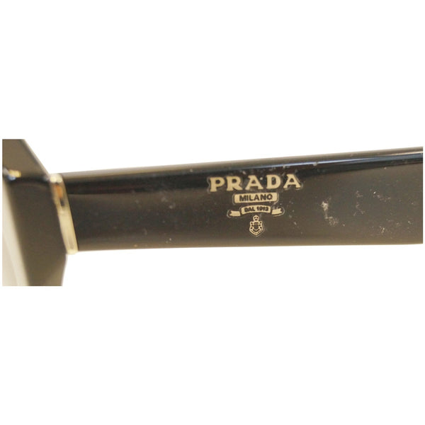 Prada Black Sunglasses Women's  - Side with Logo