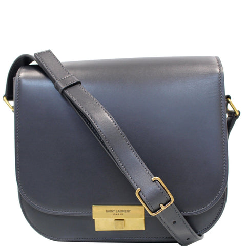 YVES SAINT LAURENT Betty Smooth Leather Shoulder Bag Grey