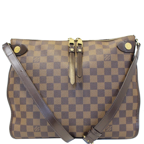 LOUIS VUITTON Duomo Damier Ebene Crossbody Bag Brown