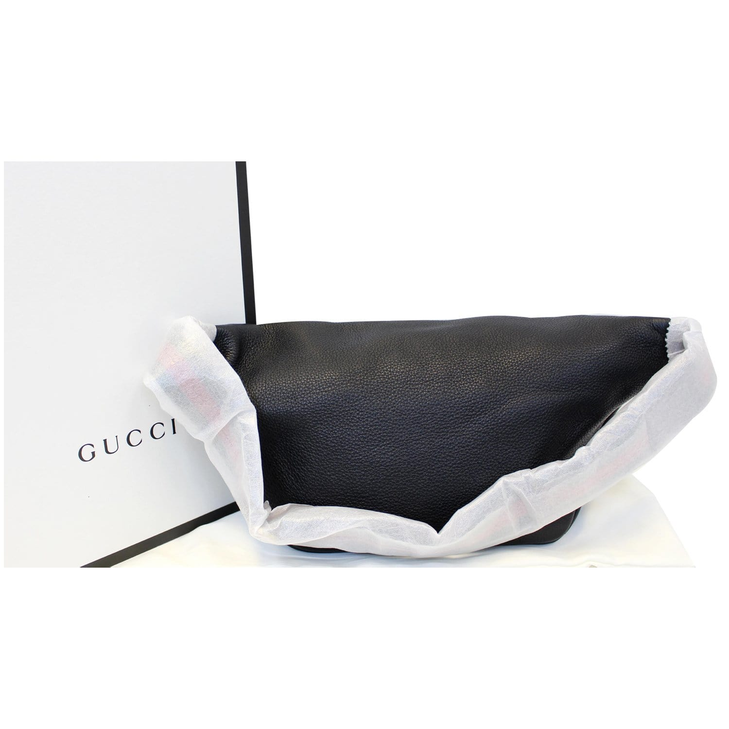 9c541be1266 GUCCI Print Leather Black Belt Waist Bum Bag Medium 530412-US