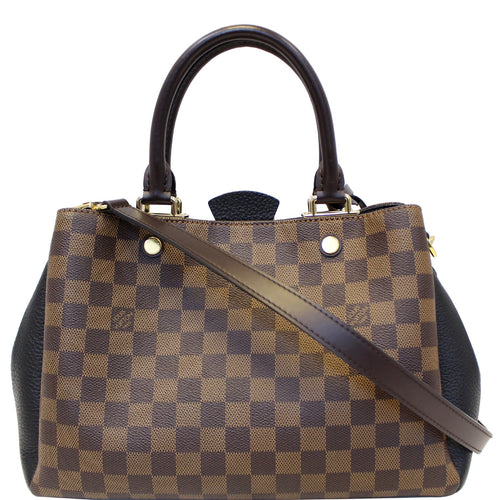 LOUIS VUITTON Brittany Damier Ebene Shoulder Bag Brown