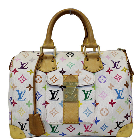 LOUIS VUITTON Speedy 30 Monogram Multicolor Satchel Bag