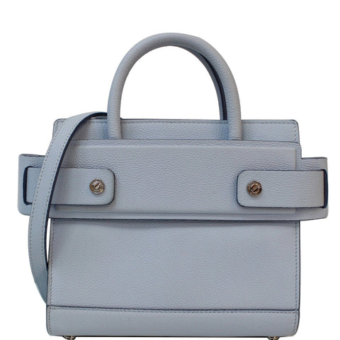 GIVENCHY Horizon Mini Grained Leather Satchel Bag Light Blue - 15% OFF