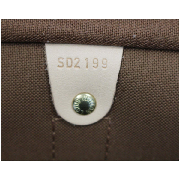 LV Keepall 55 Monogram Canvas Bostan Bag with tag number