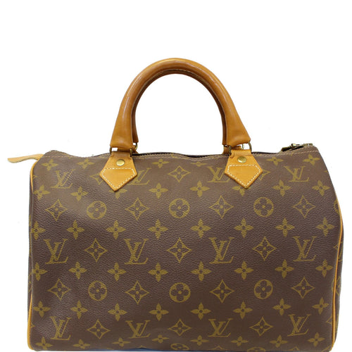 60c197bdb4154 Louis Vuitton Speedy 30 Vintage French Company Satchel Handbag