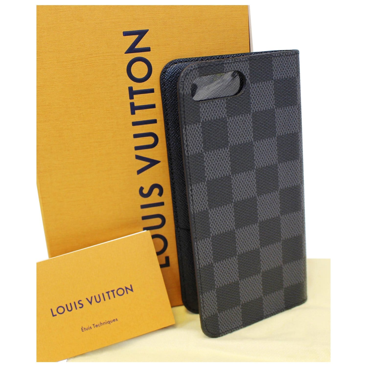 timeless design c4fcd ca765 LOUIS VUITTON IPhone 7 Plus Folio Damier Graphite Phone Case-US