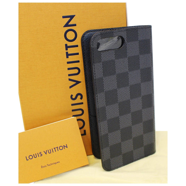 Louis Vuitton Folio Case For iPhone 7 Plus Damier - shop