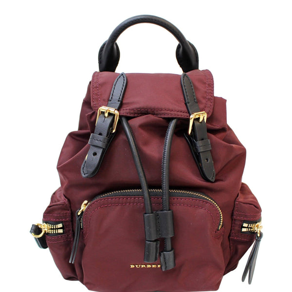 BURBERRY The Small Rucksack Nylon Backpack Red - 15% OFF