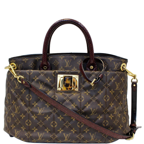 LOUIS VUITTON Etoile GM Exotique Monogram Tote Shoulder Bag Brown
