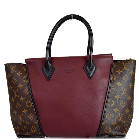 LOUIS VUITTON W PM Monogram Canvas Tote Bag Burgundy