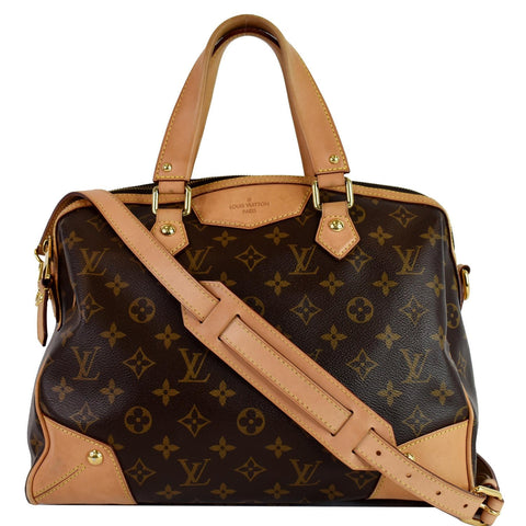 LOUIS VUITTON Retiro PM Monogram Canvas Shoulder Bag Brown