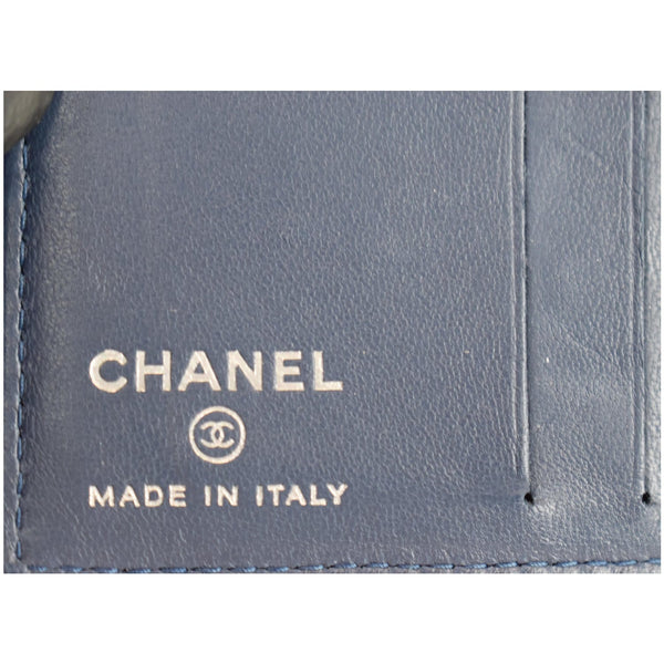 Chanel Classic Folded Leather Card Holder Wallet made in Italy