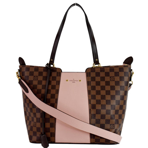 LOUIS VUITTON Jersey Damier Ebene Shoulder Bag Magnolia