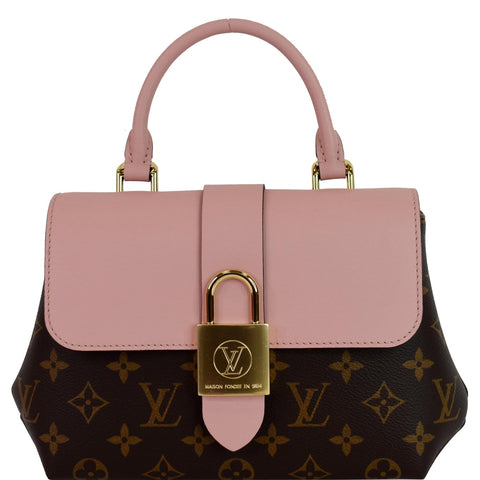 LOUIS VUITTON Locky BB Monogram Canvas Crossbody Bag Rose Poudre