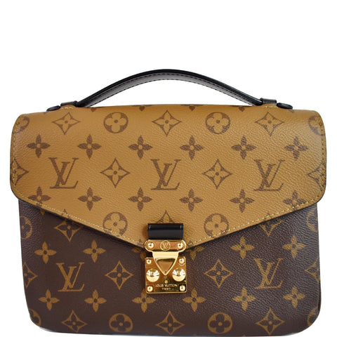 LOUIS VUITTON  Metis Pochette Reverse Monogram Canvas Crossbody Bag Brown